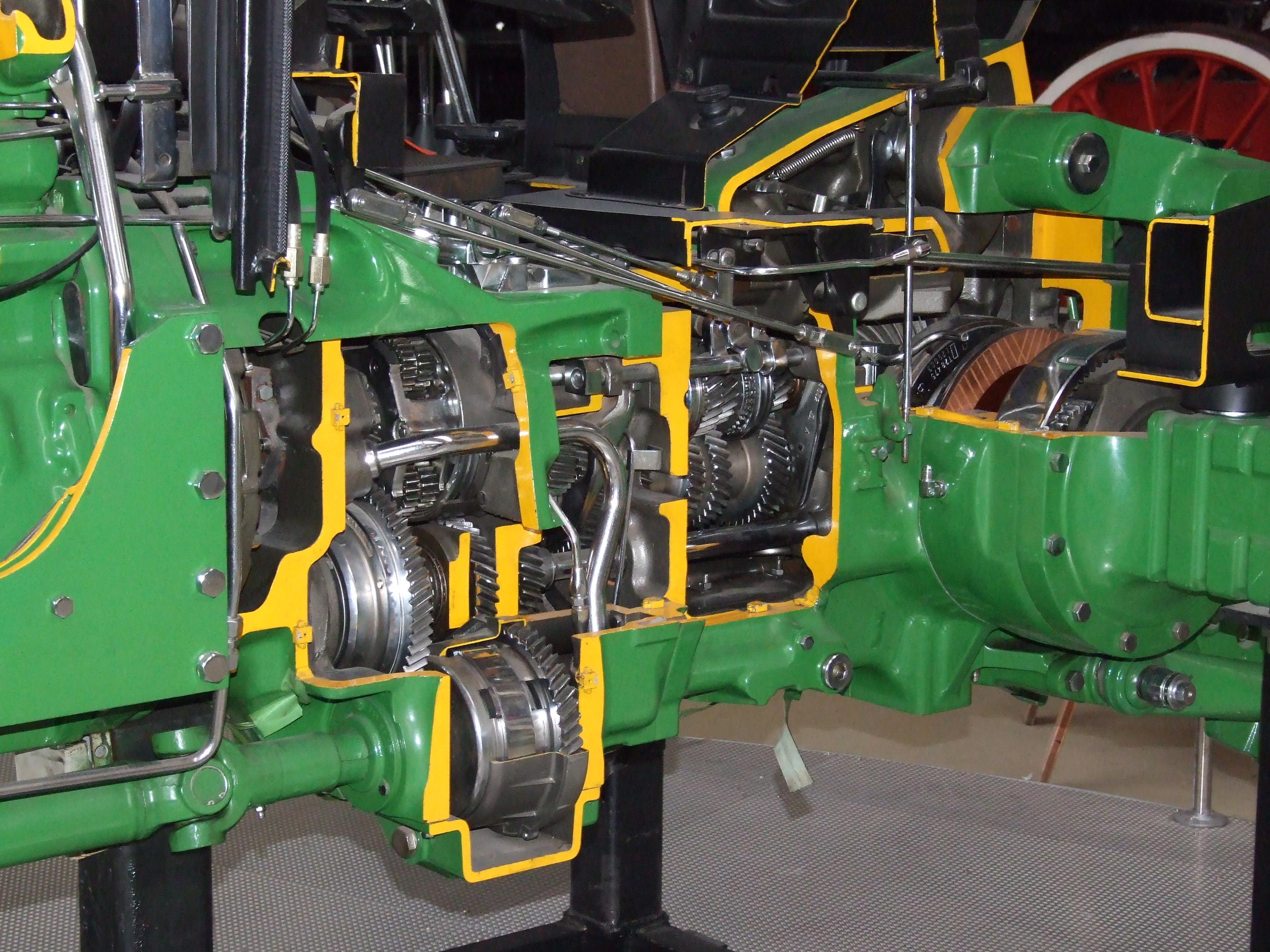 Description John Deere 3350 tractor cut transmission angle.JPG