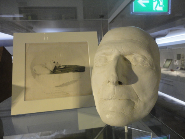 An image of John Wesley's death mask.
