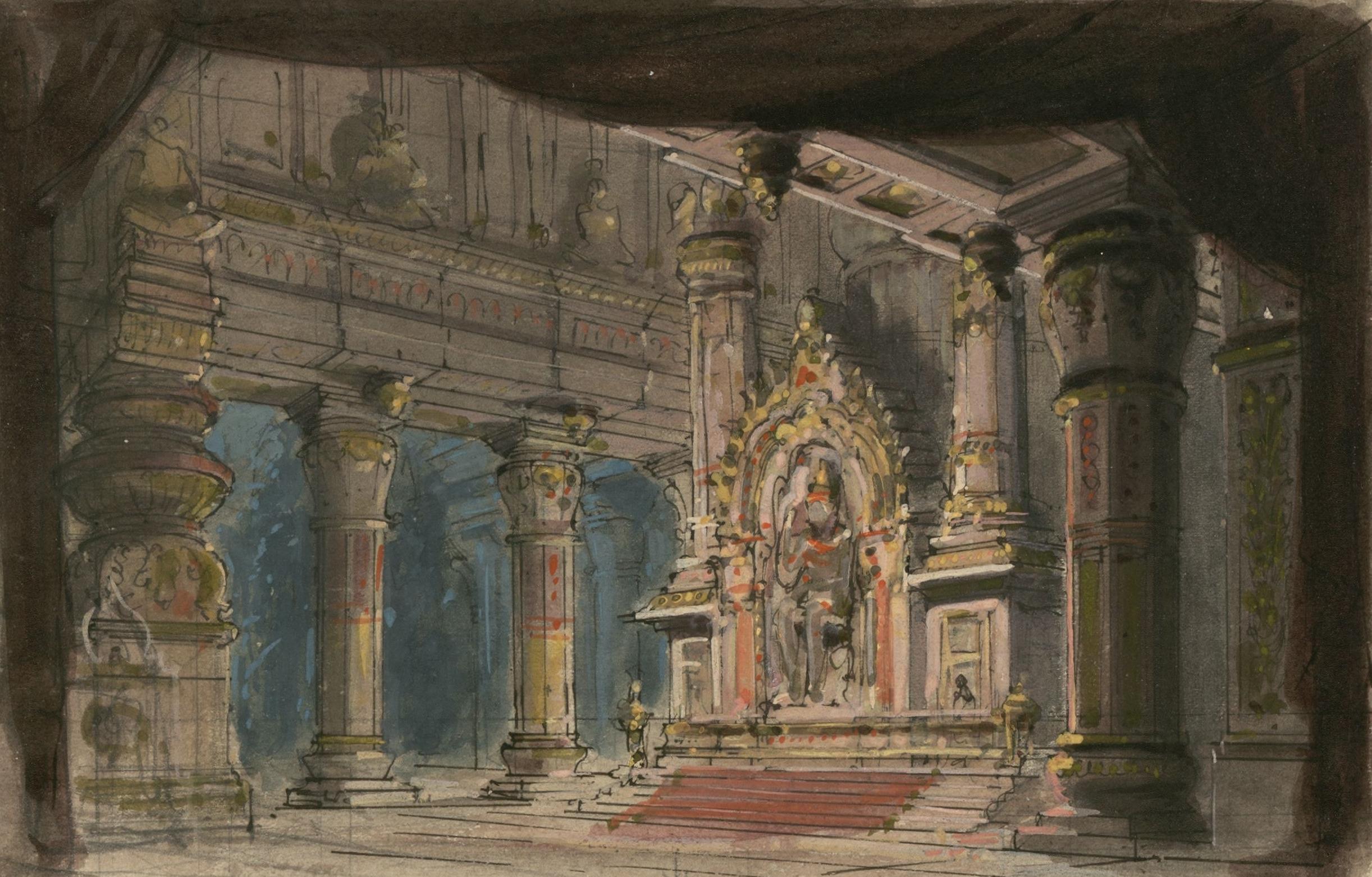 File:Jules Massenet - Le roi de Lahore - Acte V, tableau 1, Intérieur du sanctuaire d'Indra ...
