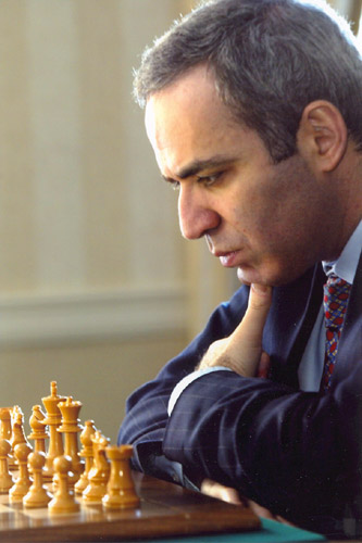 GM Garry Kasparov, former World Chess Champion, is considered by many to be one of the greatest chess players of all time. Kasparov-29.jpg