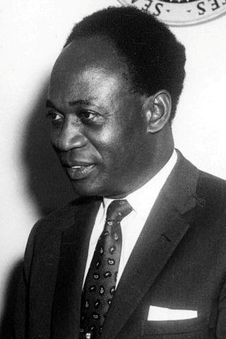 Kwame Nkrumah during a state visit to the Unit...