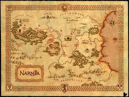 Map of Narnia by Pauline Baynes (1972)