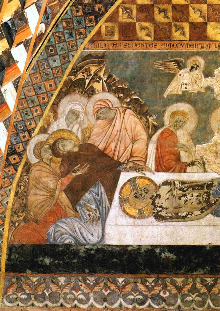 Lamentation over the Dead Christ fresco Master of st Francis. Assisi