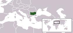 Ubicación de Bulgaria