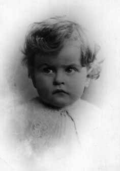 Ludwig Wittgenstein as a very young child.