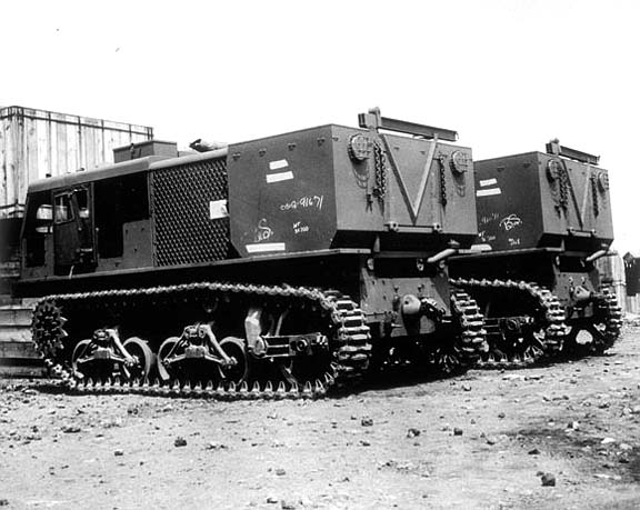 Rear view of M4 Tractor