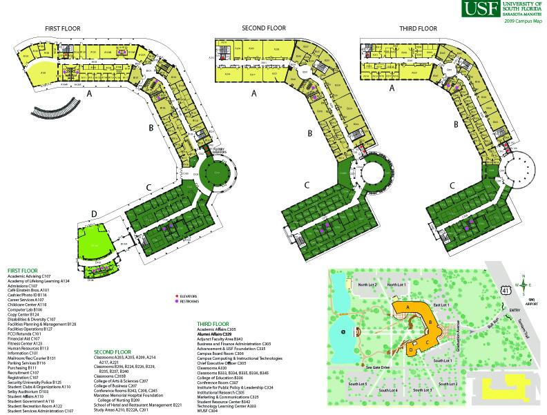 South Florida Map.File Map Seagate Campus 83d40m University Of South Florida Sarasota