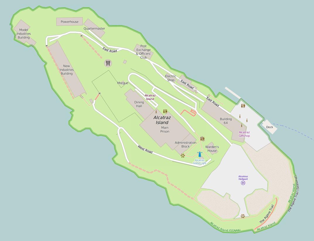 Fichier Map Of Alcatraz Png Wikip 233 Dia