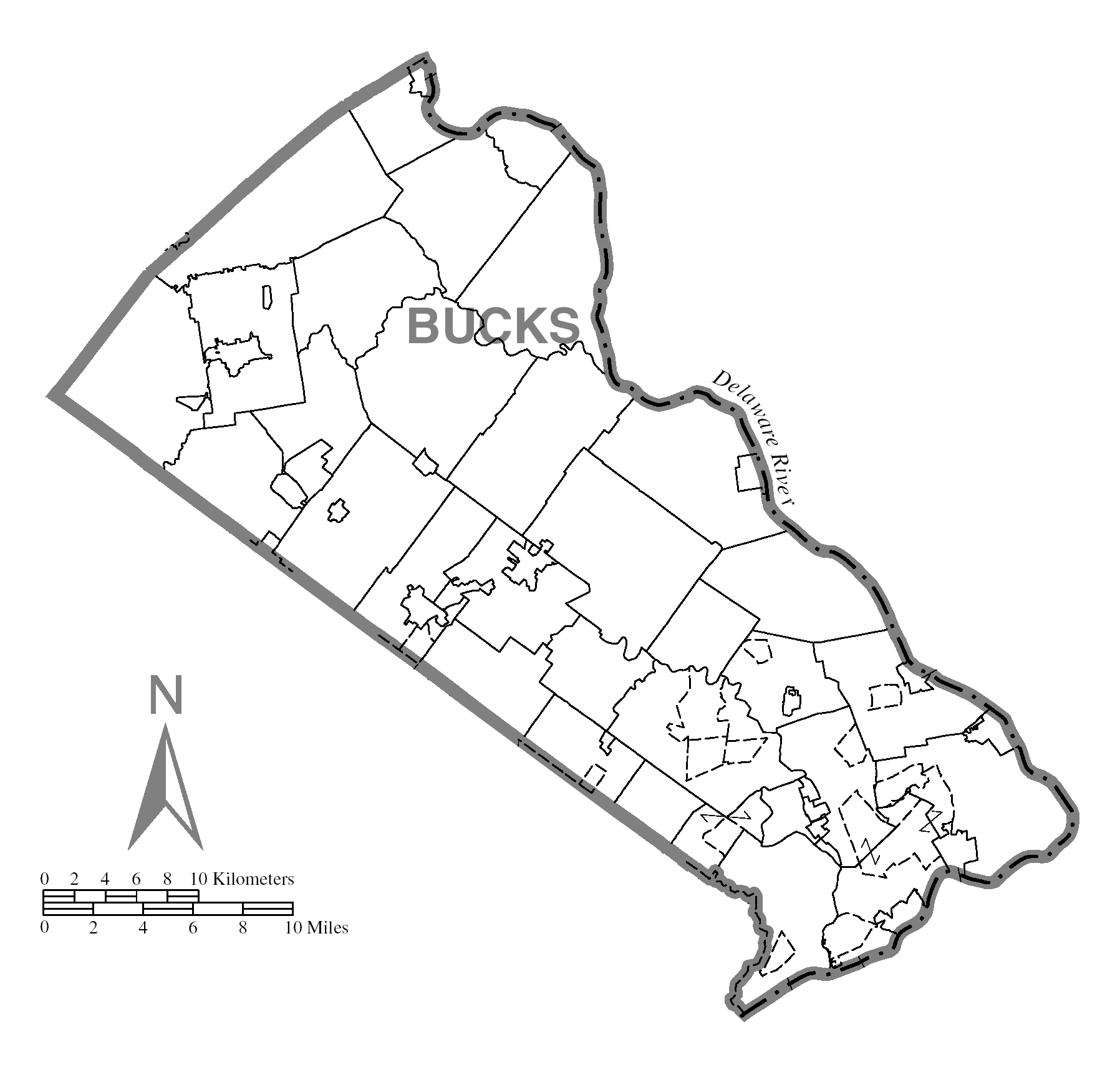 Image of: File Map Of Bucks County Pennsylvania No Text Png Wikimedia Commons
