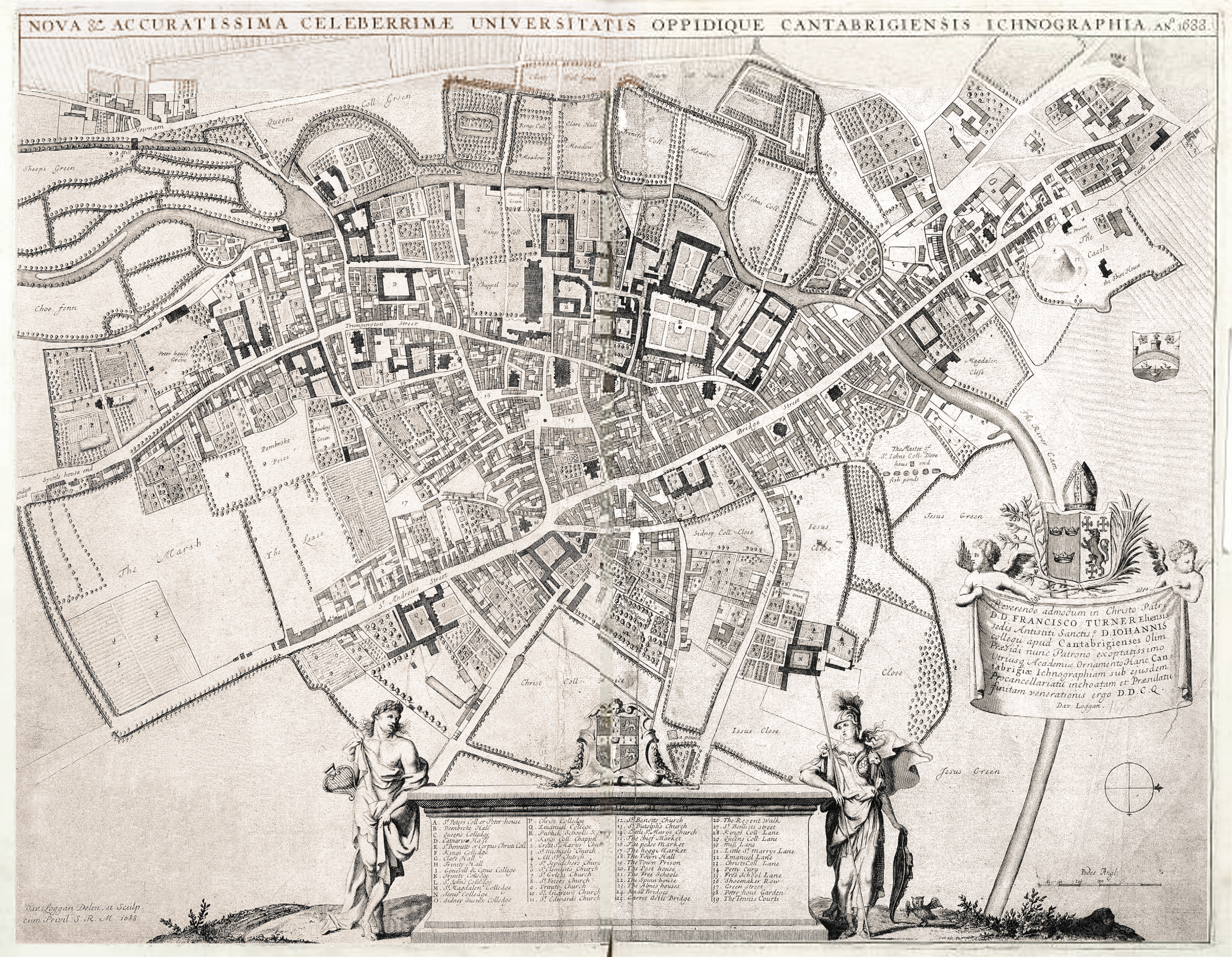 FileMap of Cambridge by Loggan 1690 mergedjpg Wikimedia Commons