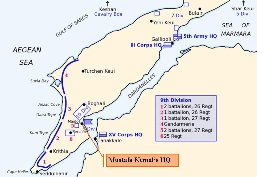 File:Map of Turkish forces at Gallipoli April 1915 (Kemals ...