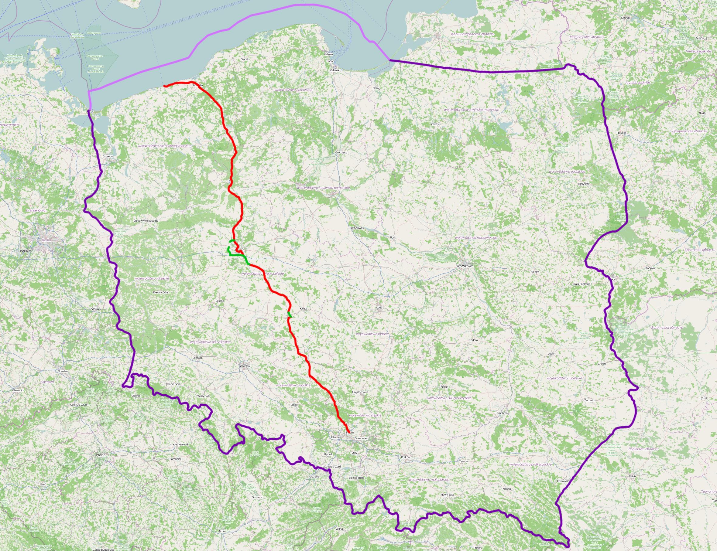 4-kanałowa mapa połączeń