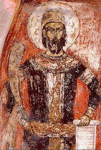 Kraljević Marko na fresci iz sela Sušica 1370-80