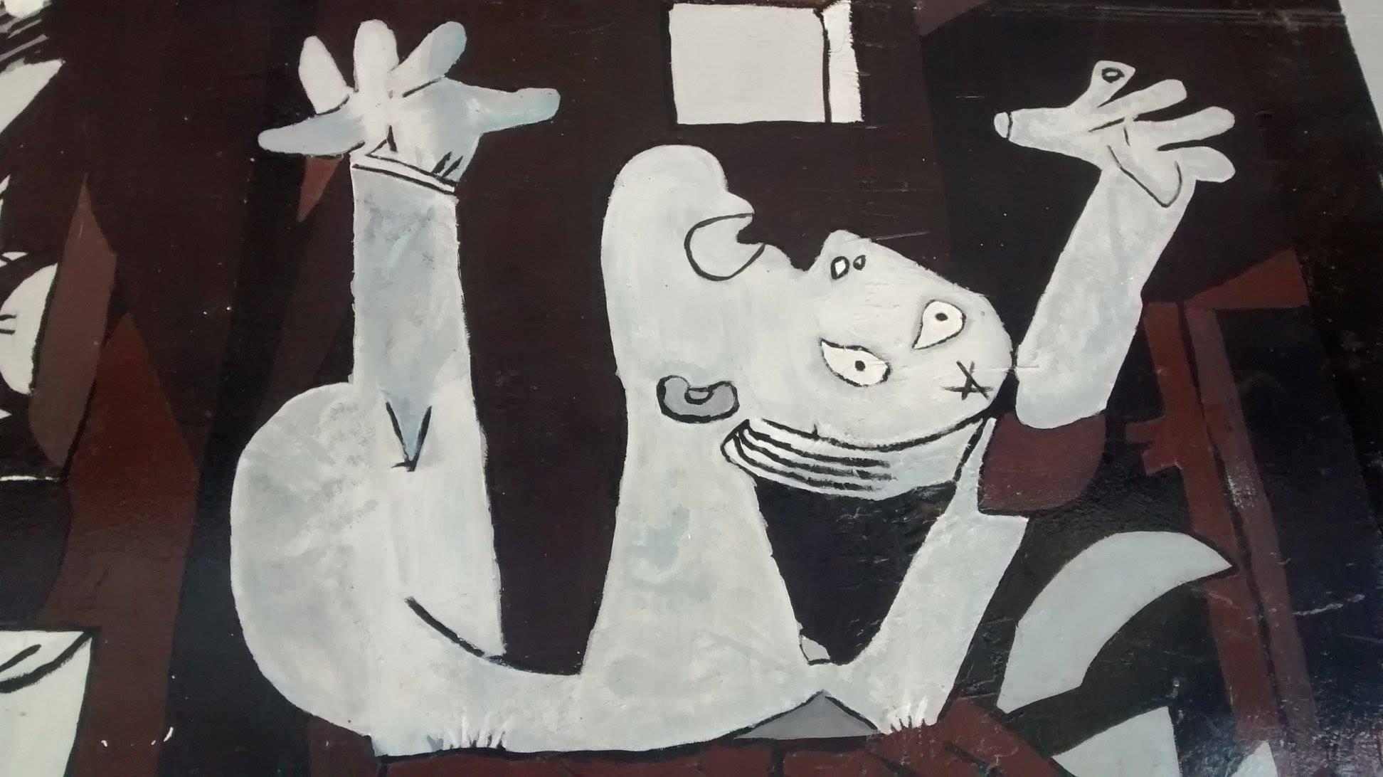 File mural r plica del guernica en santiago de chile for Mural guernica