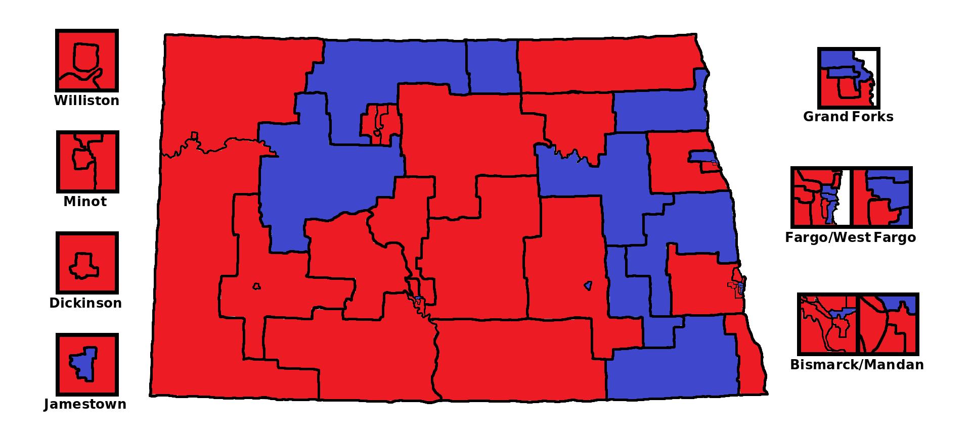 FileNorth Dakota State Senate Partisan Mappng Wikimedia Commons - North dakota state map