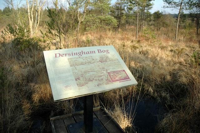 Notice on the board walk, Dersingham Bog - geograph.org.uk - 131667