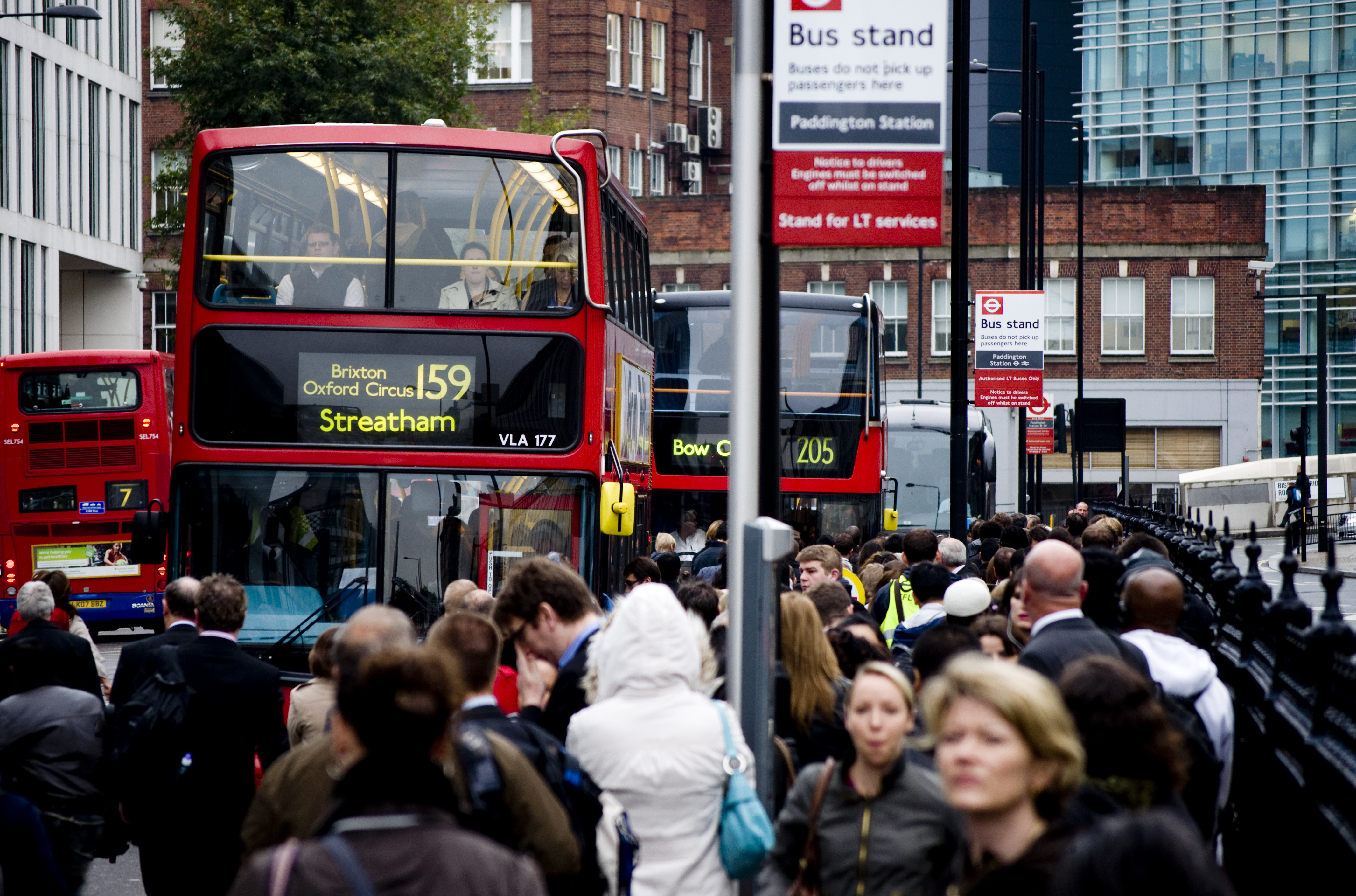 File:October 4th Tube Strike -- Crowded Bus Stand (5050096435).jpg
