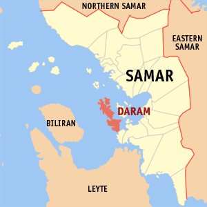Map of Samar showing the location of Daram