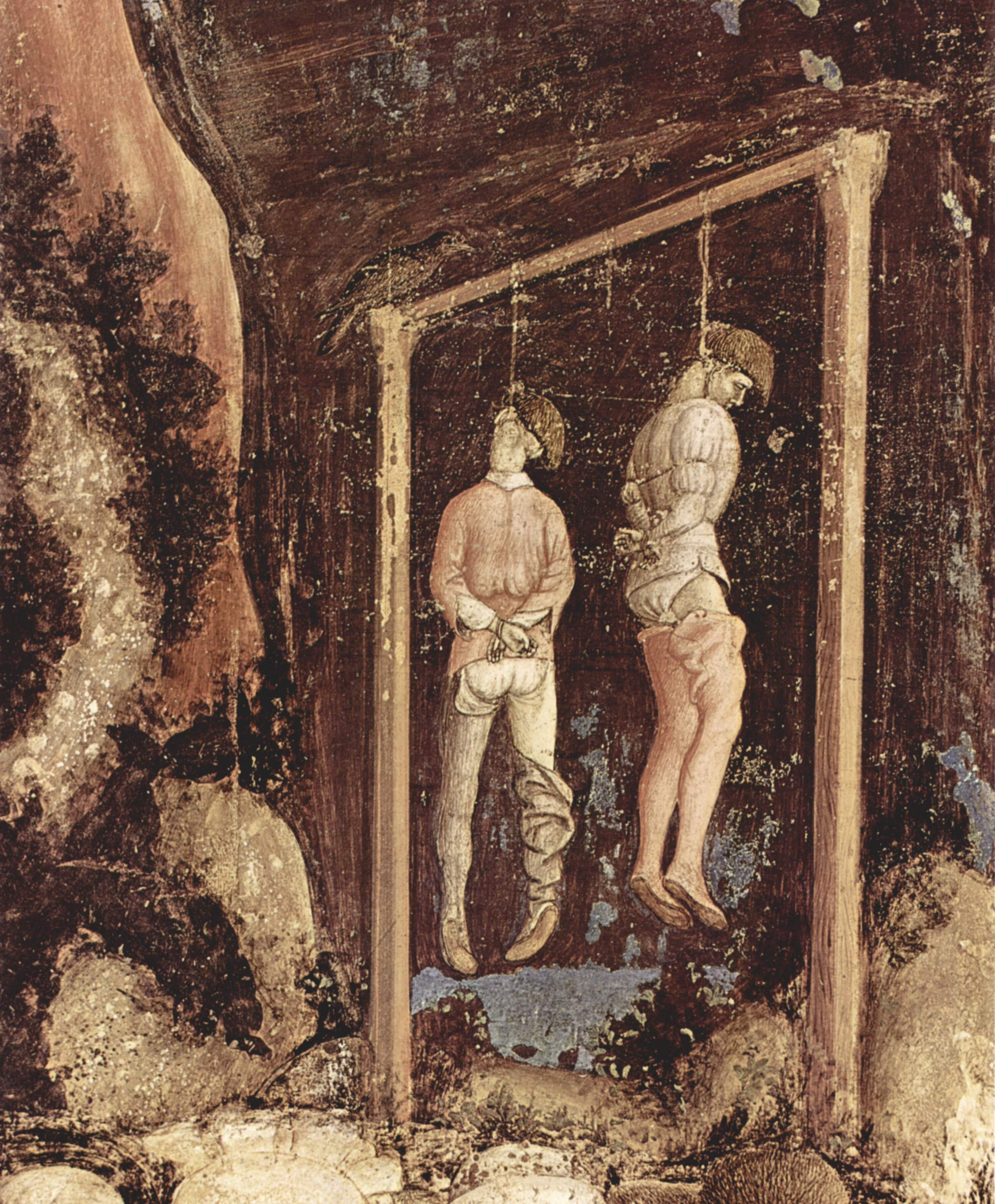 Detail from a painting by Pisanello, 1436–1438.