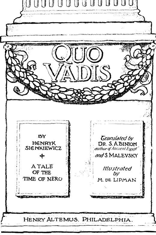 Quo Vadis Novela Wikipedia La Enciclopedia Libre