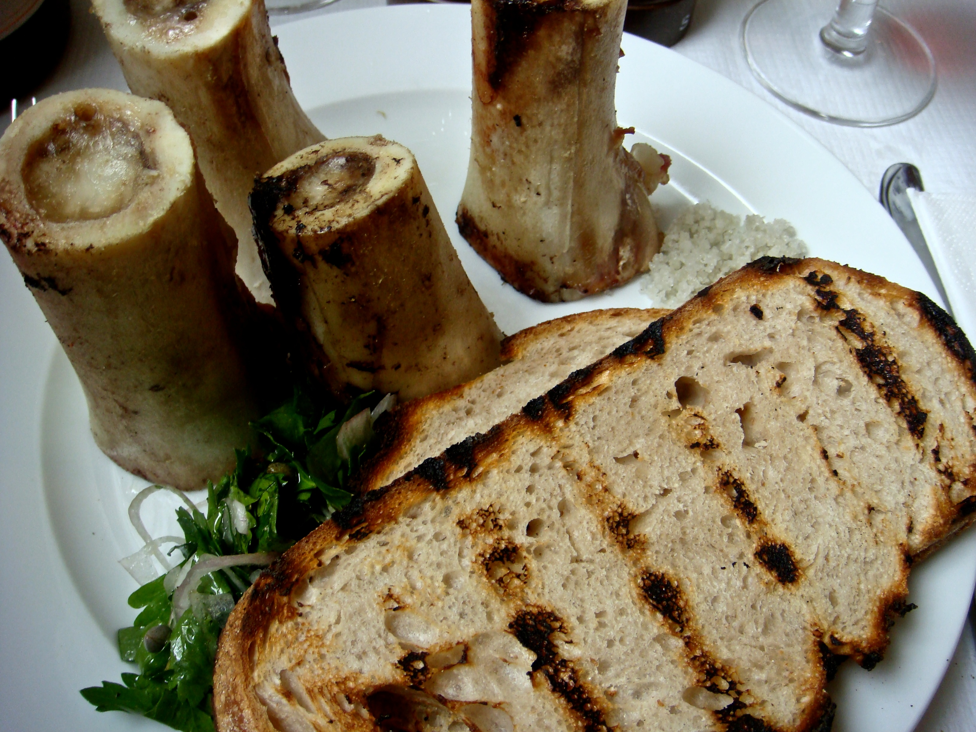 Description Roast Bone Marrow & Parsley Salad (3512154149).jpg