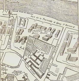 Saint-Victor & Halles aux Vins - Plan Félibien 1734