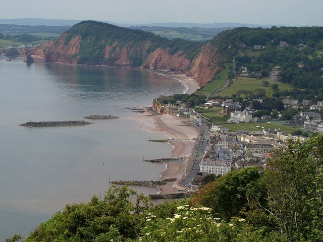Sidmouth from Salcombe Hill Cliff - geograph.org.uk - 1347556