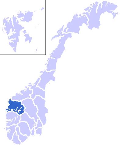 map of Sog og Fjordane