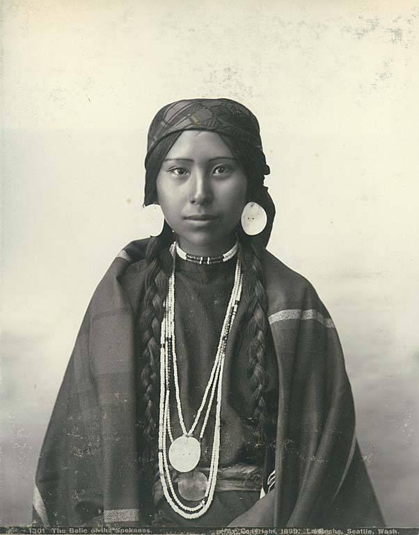 Native American Indians Women File:Spokane Indian wo...