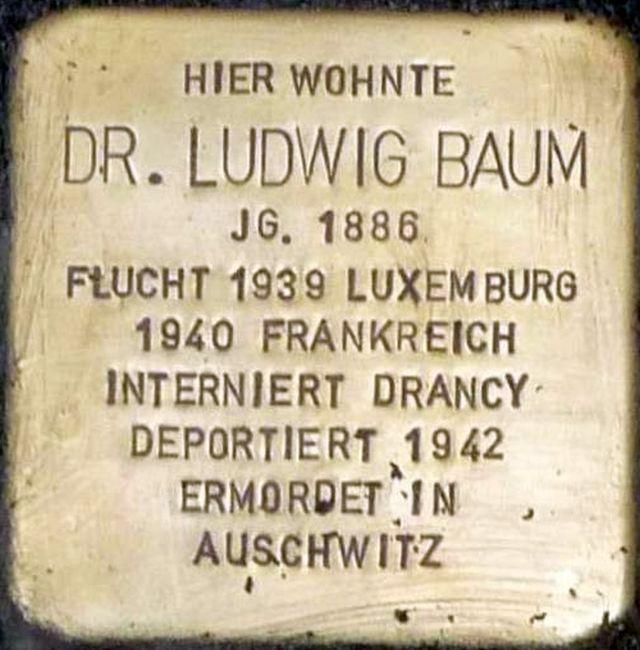 Stolperstein Alzey Doktor Ludwig Baum.jpg