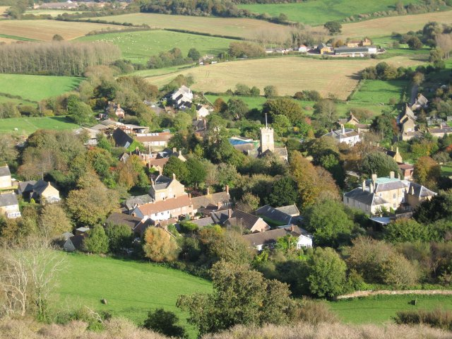 Symondsbury village from Colmers Hill - geograph.org.uk - 1200034
