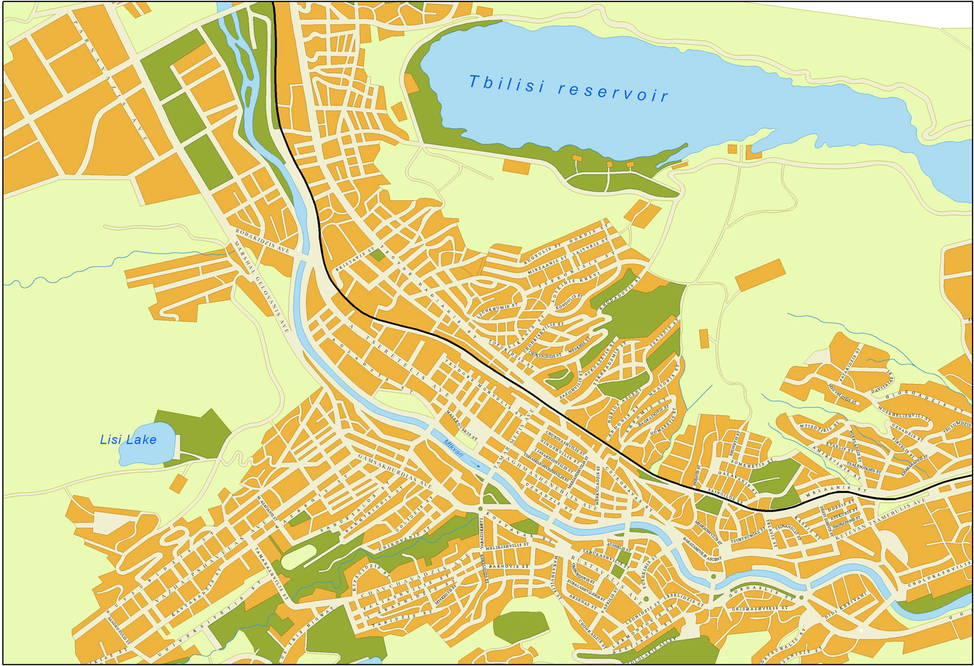 File:Tbilisi detailed map.jpg - Wikimedia Commons Tbilisi Map