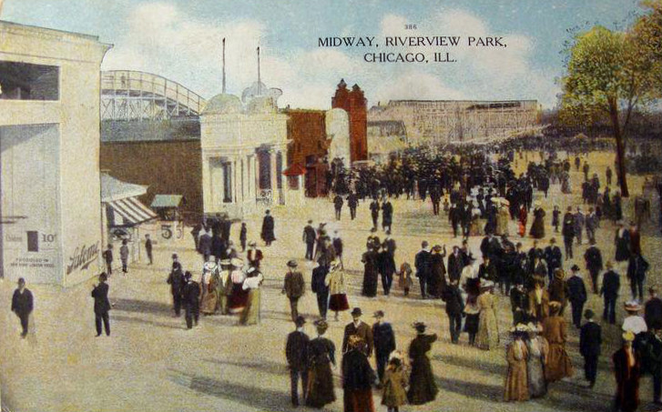 File:The Midway Riverview Park Chicago 1909.JPG