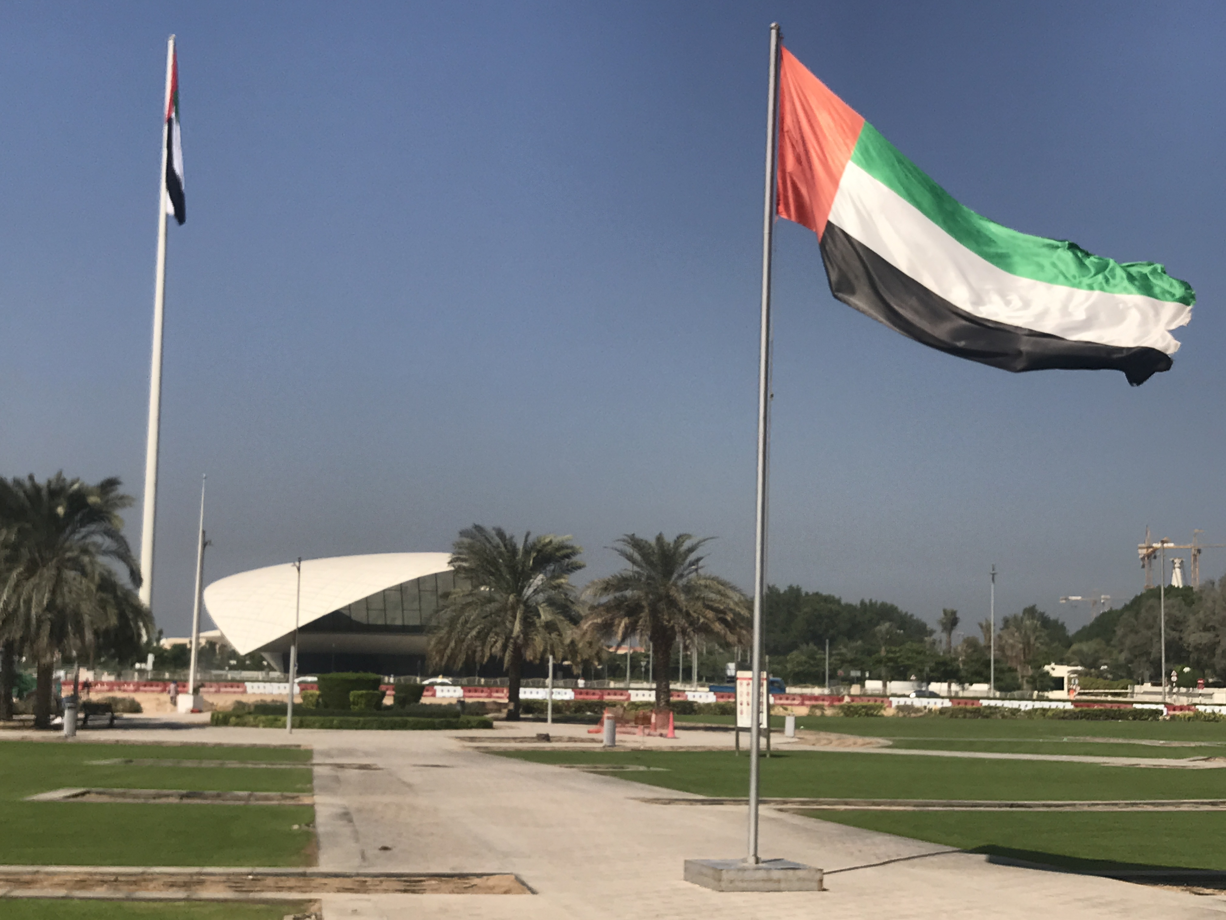 UAE flat with Etihad Museum in background