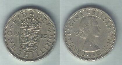 UK 1 scellino 1955