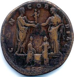 Verloving van Marcus Aurelius met Faustina de Jongere in 139