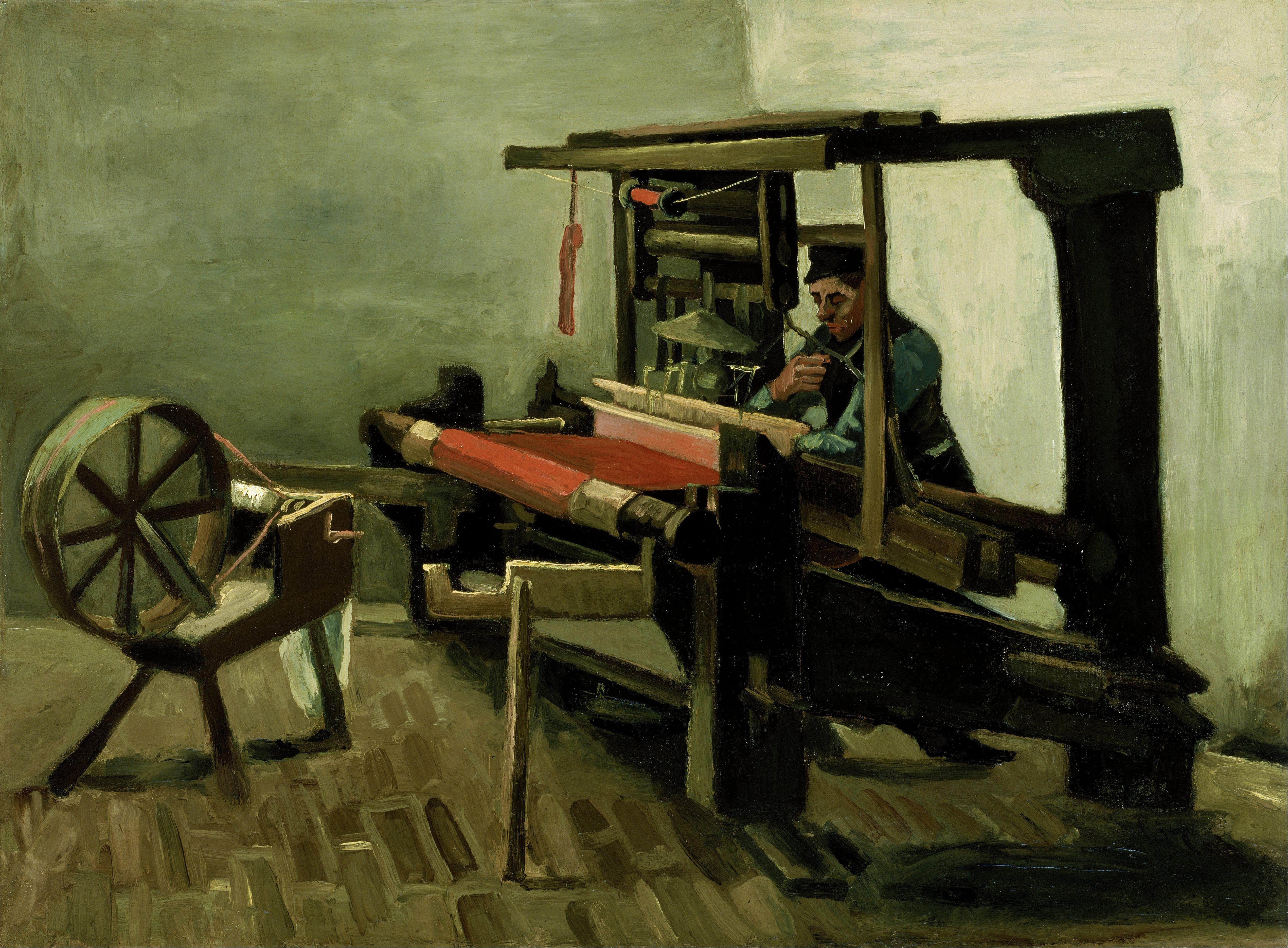 German Weaver In Boston Early  S Ellis Island