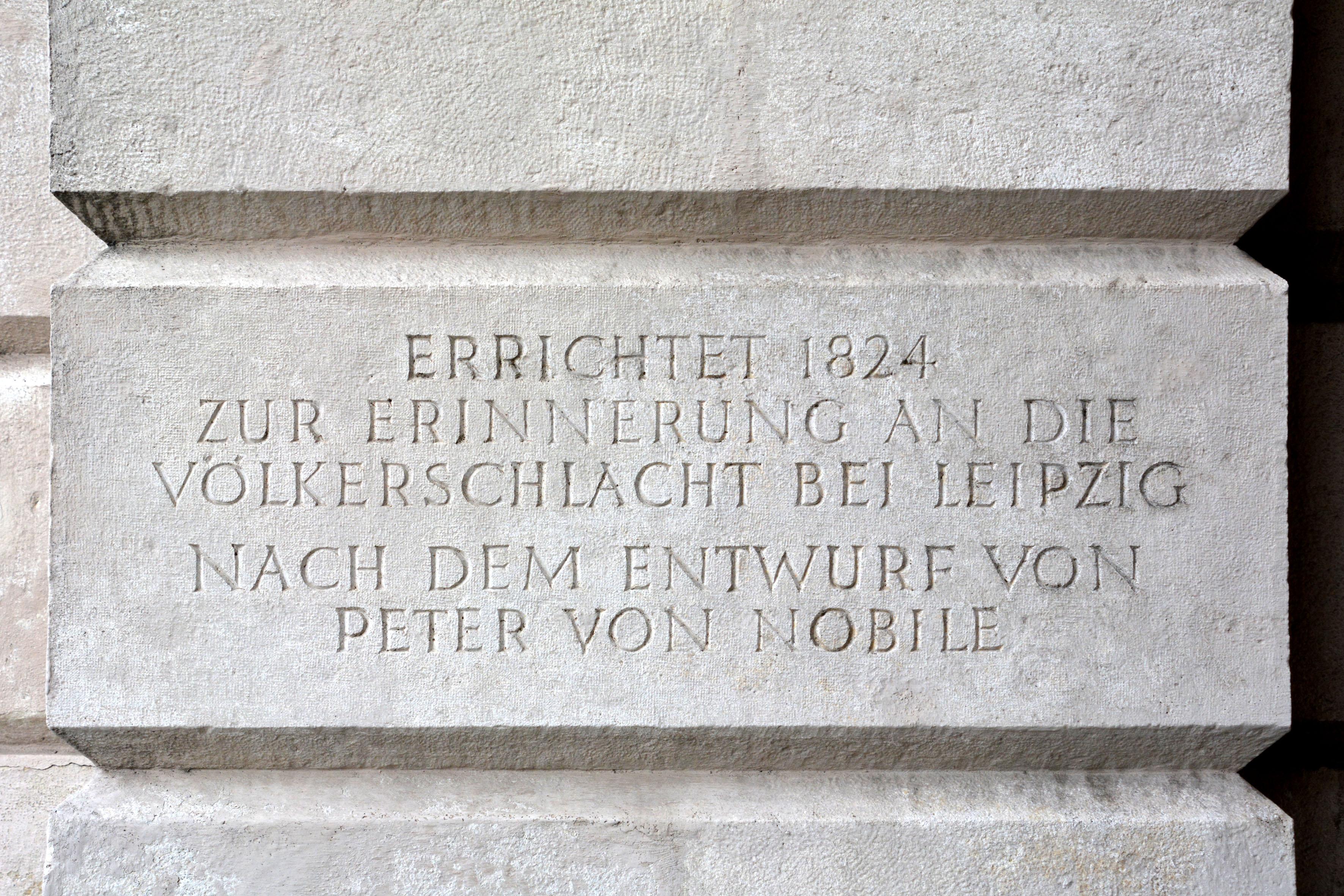 Wien, Äußeres Burgtor Gedenktafel 1824.jpg