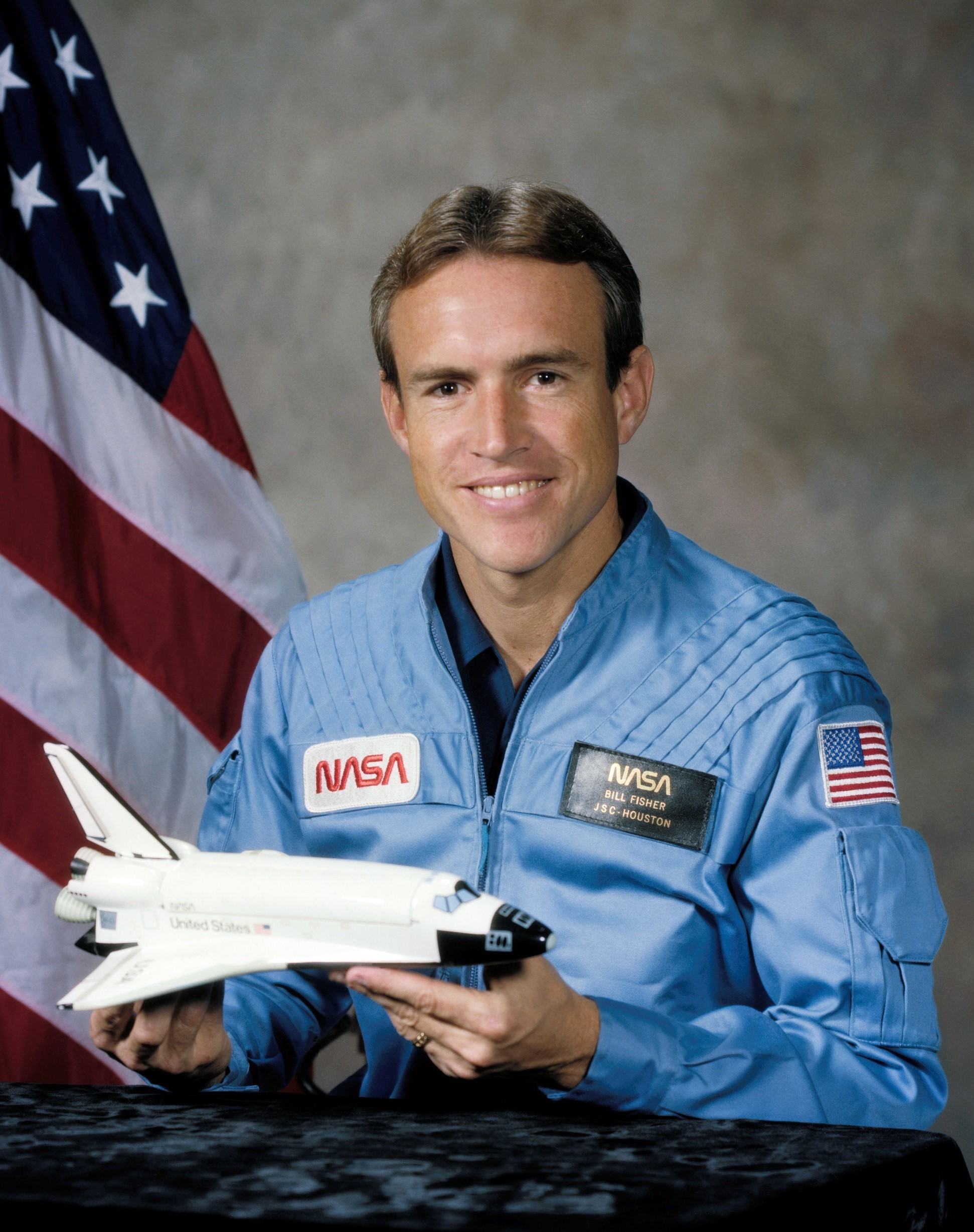 Astronaut William Fisher, NASA photo Source: Wikipedia (jsc.nasa.gov unavailable March 2019) William_Frederick_Fisher_%28Astronaut%29.jpg