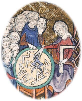 Illustration from Euclid's Elementa, 1306