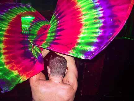Gay fan dancing