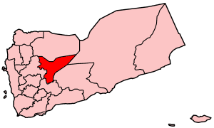 Map of Yemen showing Ma'rib governorate.