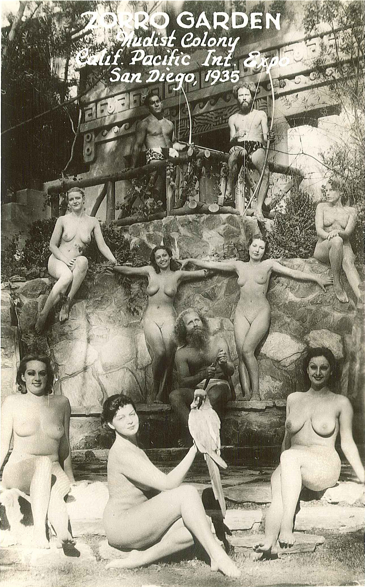 Zoro Garden Nudist Colony, California Pacific International Exposition, San Diego, Ca ,1935