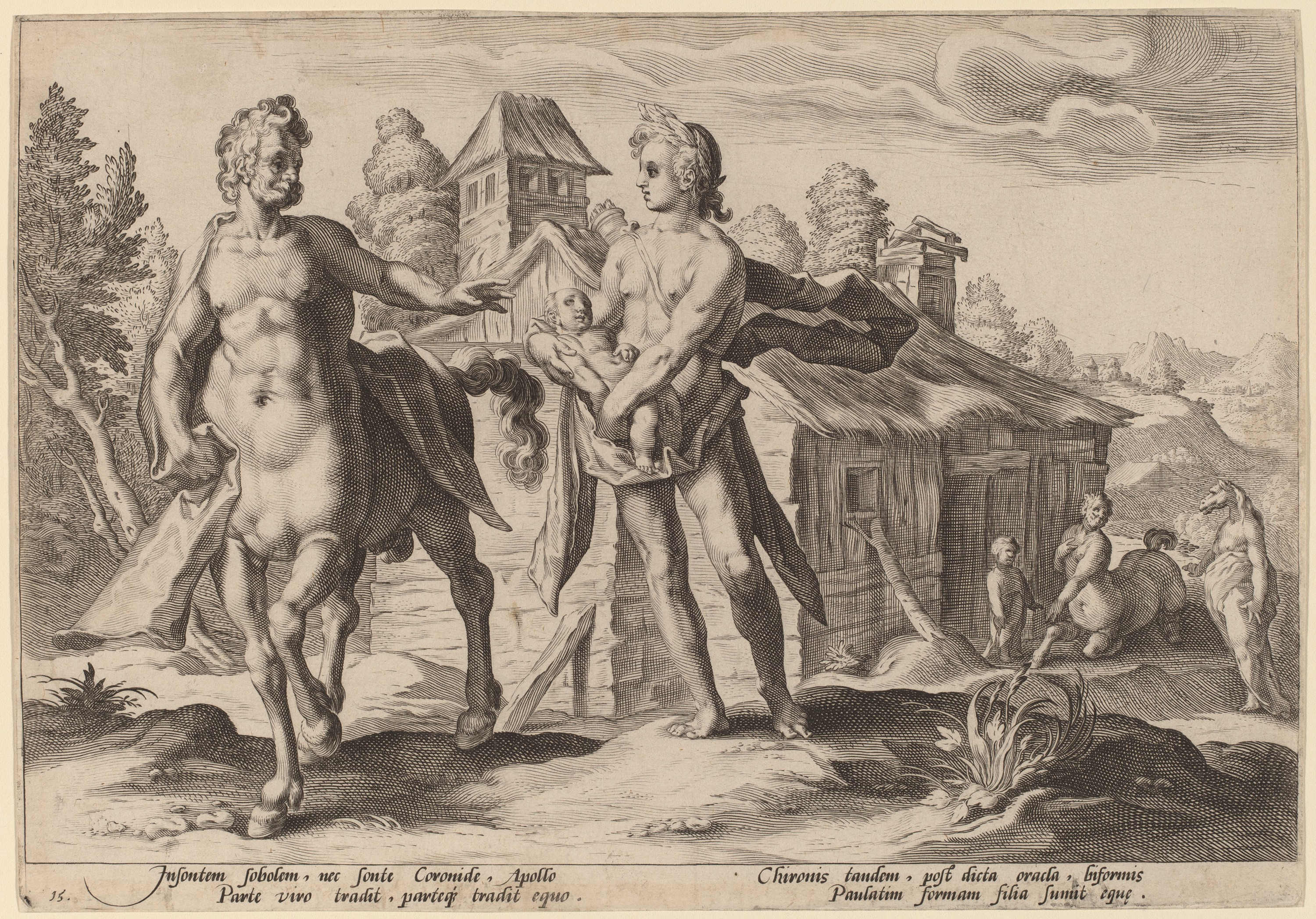 An image of Aesculapius with Chiron the centaur.