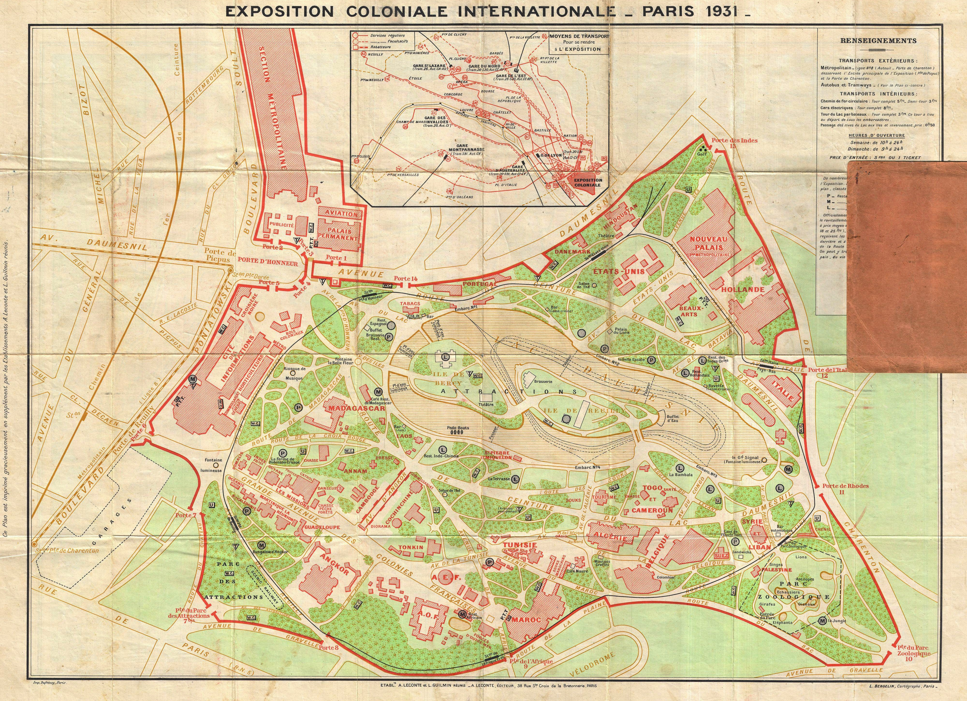 File1931 Leconte Map of Paris wMonuments and Map of the – Map of Paris with Monuments