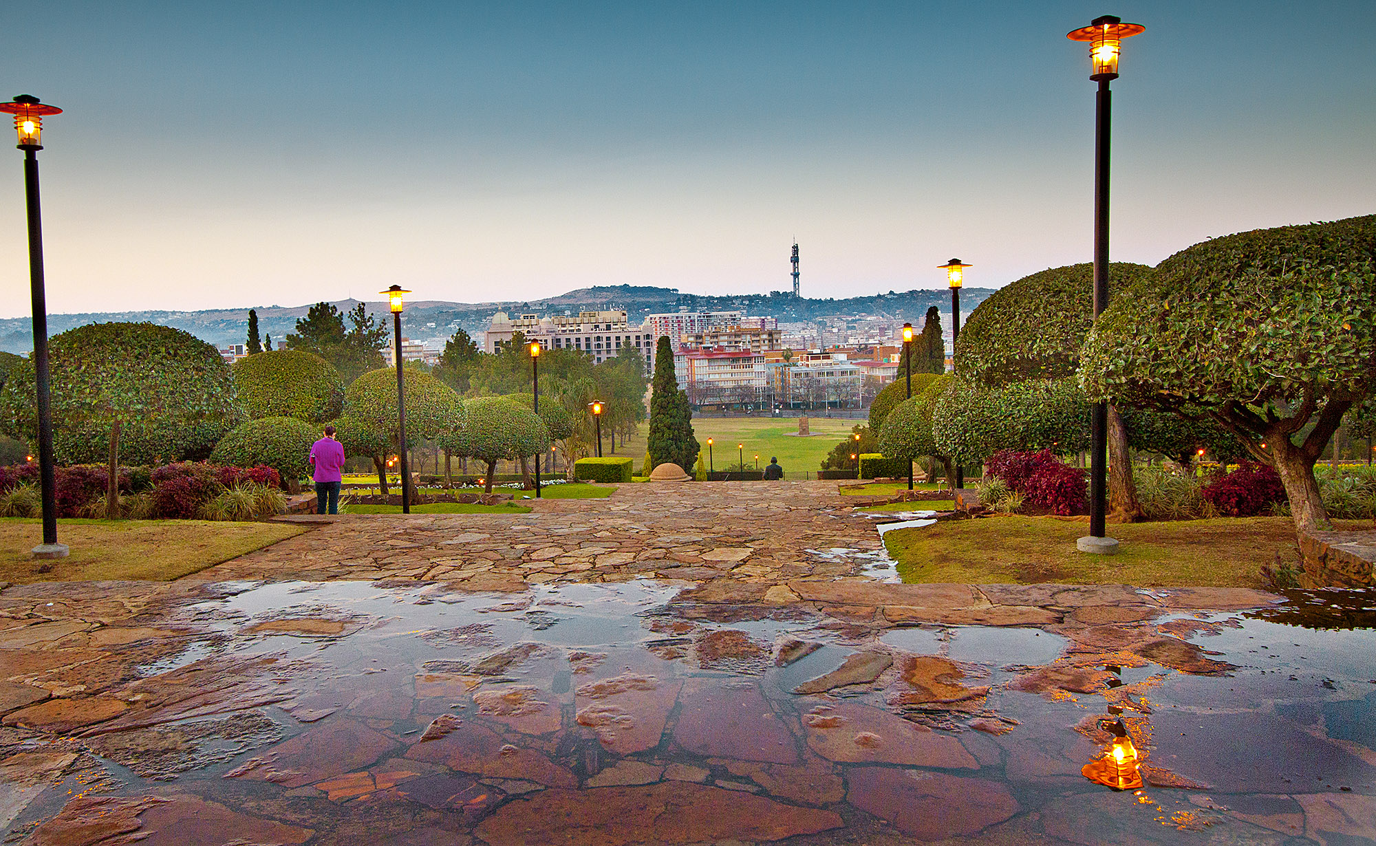 Pretoria South Africa  city photos gallery : Description 1 Union Buildings gardens Pretoria South Africa