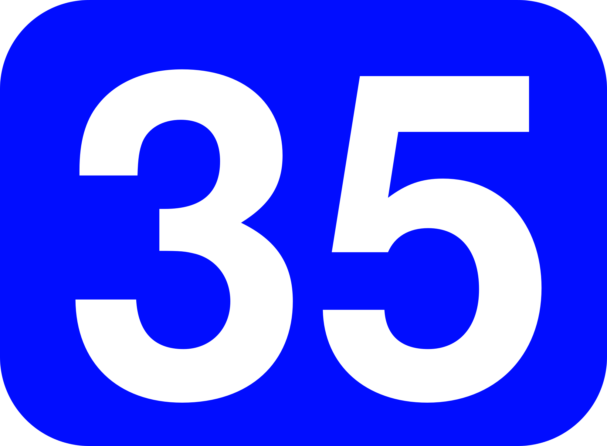 File:35 white, blue rounded rectangle.png