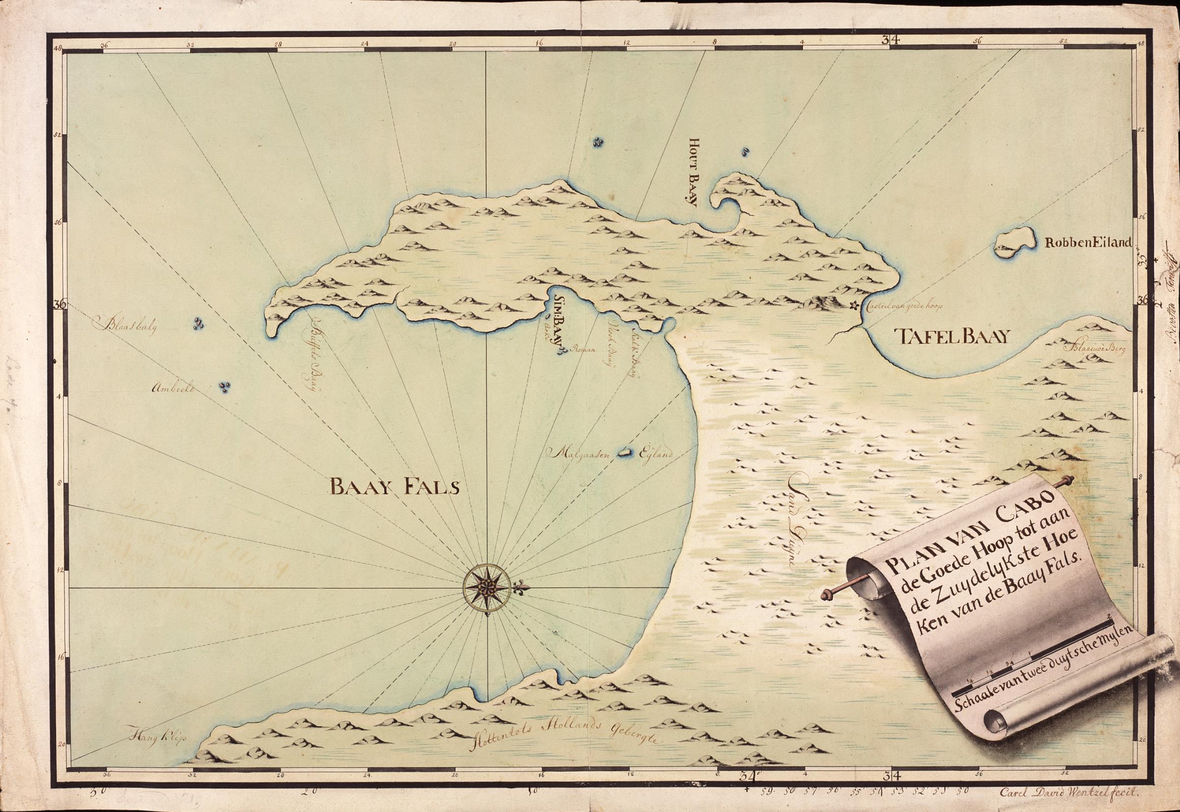 File:AMH-5601-NA Map of the Cape of Good Hope and False Bay.jpg ...