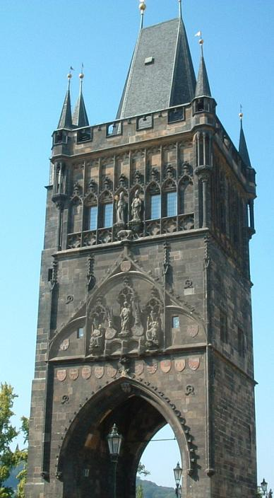 Aftnn The old town end of the King Charles bridge.jpg