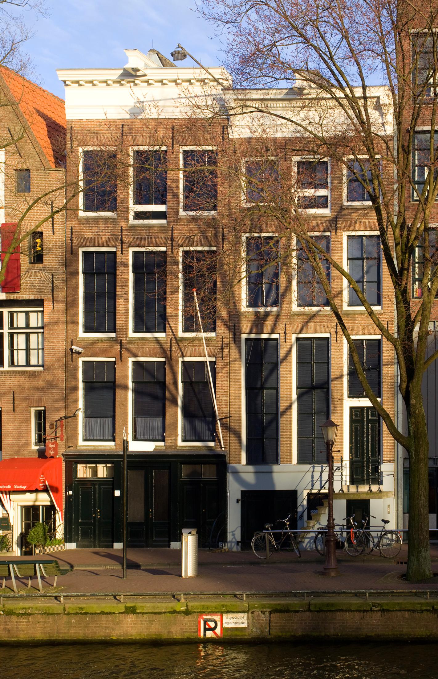 Anne-Frank-Haus an der Prinsengracht in Amsterdam im März 2009 - Foto von Massimo Catarinella